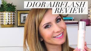dior airflash foundation review and demo is it as good as airbrush foundation lisa j makeup