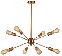 8 Light Sputnik Chandelier Sputnik Chandelier Light Vinluz 8 Lights Modern Pendant
