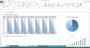 Yearly Expense Report Template Excel Excel Template Annual Expense Report