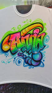 Airbrushed Custom Free Style Name Designs