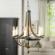 august grove betty jo 6 light candle style chandelier reviews with regard to modern home candle style chandelier ideas