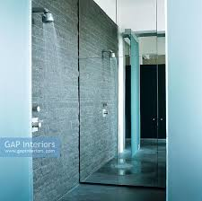 modern shower with f stock photo by