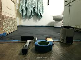 painting over floor tiles super affordable bathroom floor makeover solution how to chalk paint tile floors