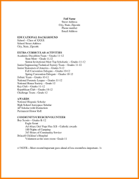 Download Basic Resume Templates For High School Students College