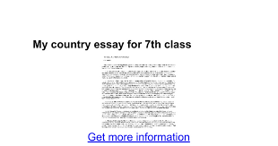 my country essay for th class google docs