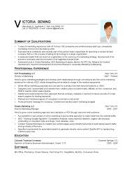 Resume Templates Word 2013 Stunning Resume Template Word Summary Of Qualifications Professional