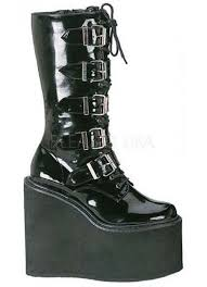 swing womens platform mid calf boots at gothic plus gothic clothing jewelry
