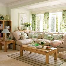 Green Living Room   Wood Furniture