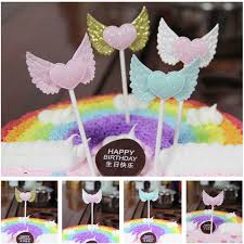 lovely heart angel wings birthday party decorations cupcake flag wedding party diy decorations vintage wedding decorations diy wedding decorations from