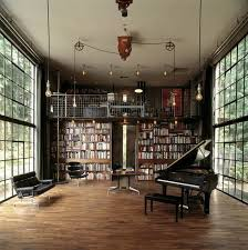 Library Design | Home Office | Music Room | Modern Interior | Industrial  Design | Home