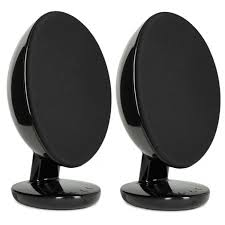 kef egg speakers. black kef egg speakers