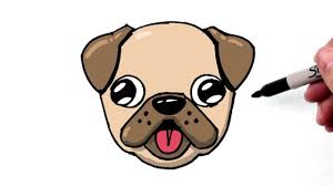 cute pug drawing. Fine Drawing How To Draw A Cute Dog Emoji Pug Quick And Easy Step By To Cute Pug Drawing C