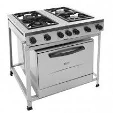 Gas Stove Service Clarice 4 Burner S S Industrial Gas Stove W Oven 17276 Hsds