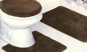 bathroom rug sets 3 piece plush bath rug set with contour rug 3 piece bathroom rug