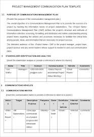 Project Management Plan Template Free Download Free Sample Project Management Plan