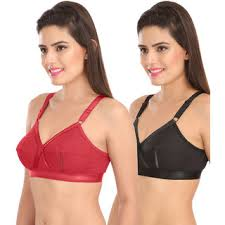 Sona Perfecto Women White Full Cup Everyday Dream Fit For Ample Bust Lines Plus Size Cotton Bra Full Coverage Non Wired Non Padded Pack Of 2
