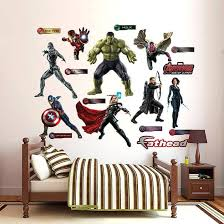 superhero wall decals murals superhero wall decals for kids rooms bedroom super awesome fathead avengers age of decal
