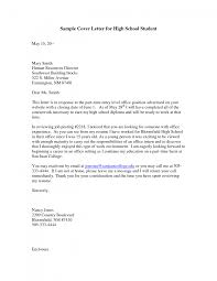 cover letter High School Sample Cover Letter high school cover ...