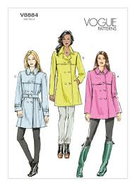 Trench Coat Pattern Impressive V48 Misses' DoubleBreasted Trench Coats And Belt Sewing Pattern