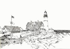 Small Picture Realistic Lighthouse Coloring Pages Coloring Home