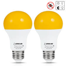 Led Yellow Bug Light Details About Lohas Yellow Bug Light Bulb With Dusk To Dawn Light Sensor A19 Led Bulb 40w