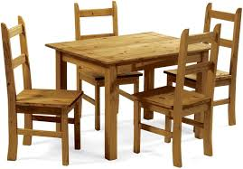 corona budget dining table with 4 chairs hand waxed distressed pine