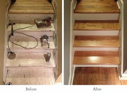 Refinishing the Basement Stairs Before and After Brookside