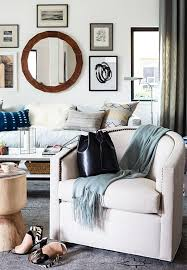 gallery wall round mirror