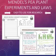 Gregor Mendel Pea Plant Experiments And Laws Of Heredity Chart