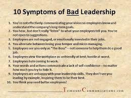 Bad Leadership Quotes Cool 48 Symptoms Of Bad Leadership Leadership Pinterest Leadership