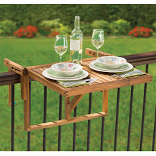 The Instant Wooden Deck Table Hammacher Schlemmer