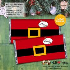 570 x 738 jpeg 113 кб. Cute Santa Claus Belt Christmas Favors Hershey S 1 55oz Candy Bar Wrapper