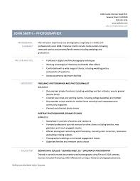 sample photography resumes sample photographer resume freelance job in examples sradd me