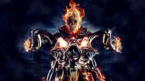 ghost rider motorcycle fire skull skeleton wallpaper