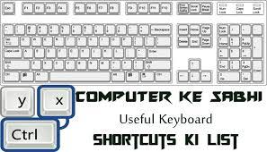 computer key board shortcuts computer ke sabhi useful keyboard shortcuts ki list hindi se help