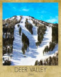 Utah Ski Resort Comparison Chart Utah Ski Poster Deer Valley Skiing Print Park City Ski Poster Utah Ski Resort Print Skiing Art Wall Art Vi1200