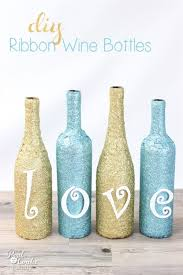wine bottle crafts are the best this is to make diy wine bottles with ribbon