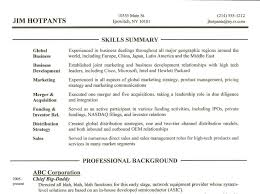 Objective Section On Resume Resume Career Summary Example Cashier