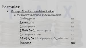 Installment Sales Method (Income Taxation