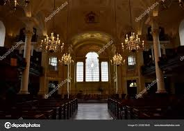 Martin Fields Church Interior East Window Designed Shirazeh Houshiary  London – Stock Editorial Photo © jmbf #235819942