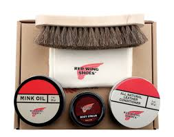 heritage leather boot shoe care gift kit