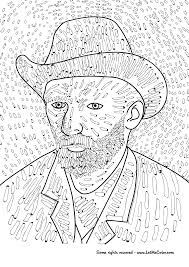 Small Picture Coloring Page of Vincent van Goghs Self Portrait LetMeColor