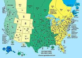 United States Time Zones Chart Misc Pinterest Time