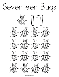 Small Picture Seventeen Bugs Coloring Page Twisty Noodle