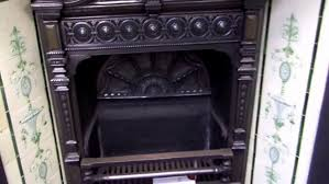 britains heritage aai antique victorian burnished cast iron fireplace insert and tile blower motor ventless gas heaters propane wall decorative electric