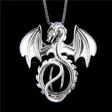 925 sterling silver dragon shape cage pendant