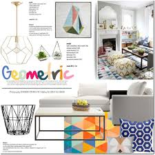 geometric decor ideas polyvore