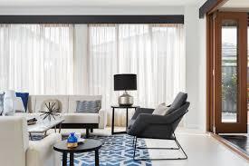 Sheer Curtains Living Room Dark Blue Coloured Pelmet With Cream Coloured Sheer Curtains