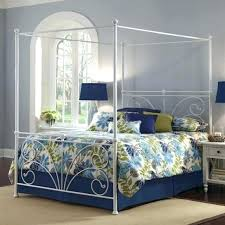Diy Canopy Frame Bed Canopy Frame Image Of Leaves Blue Bed Canopy ...
