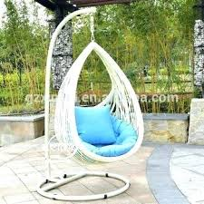 hanging rattan egg chair outdoor swing chairs wooden size garden patio leaf design swi